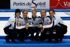 The triumphant Swiss team