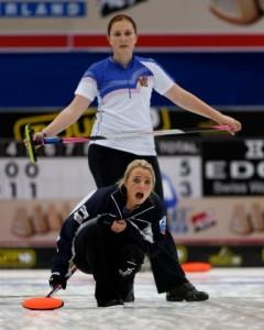 Scottish third Anna Sloan in action