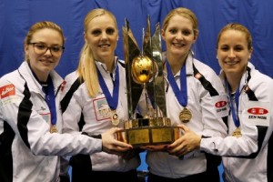 Switzerland: skip Alina Paetz, third Nadine Lehmann, second player Marisa Winkelhausen, lead Nicole Schwaegli