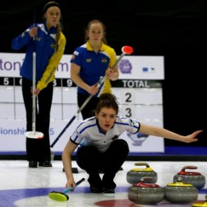Scotland's third Naomi Brown making the call