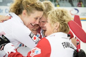 Canadian women celebrate