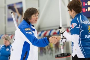 the spirit of curling is alive and well at the World Seniors in Sochi