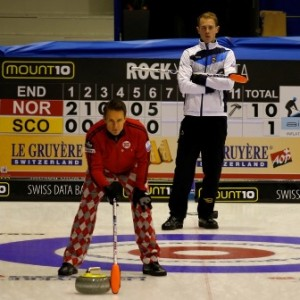 Scotland's Kyle Smith had a slow start against Norway, skipped by Thomas Ulsrud